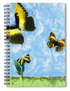 Yellow Butterflies - Spring Art By Sharon Cummings Spiral Notebook