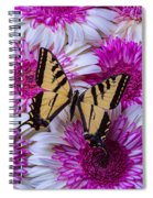Yellow Butterfly Resting Spiral Notebook