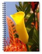 Yellow Calla Lilies Spiral Notebook