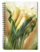 Yellow Callas Spiral Notebook