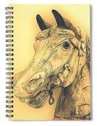 Yellow Carousel Horse Spiral Notebook