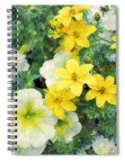 Yellow Cascade Spiral Notebook