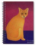 Yellow Cat Spiral Notebook