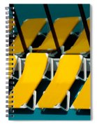 Yellow Chairs Reflected Spiral Notebook