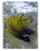 Yellow Christmas Tree Worm Spiral Notebook