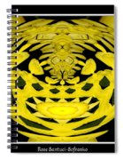 Yellow Chrysanthemums Polar Coordinates Effect Spiral Notebook
