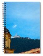 Yellow Church And Monserrate Spiral Notebook