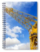 Yellow Crane And Sky Spiral Notebook