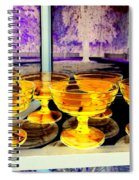 Yellow Cups Spiral Notebook