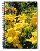 Yellow Daylilies Spiral Notebook