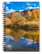 Yellow Fall Reflections Spiral Notebook