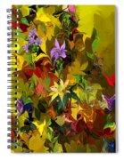 Yellow Fantasy Flower Garden Spiral Notebook