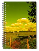 Yellow Fencerow Spiral Notebook
