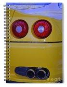 Yellow Ferrari Tail Lights Spiral Notebook