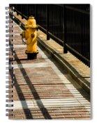 Yellow Fire Hydrant - Pittsfield - Massachusetts Spiral Notebook