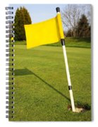 Yellow Flag On The Green Spiral Notebook