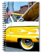 Yellow Flame Spiral Notebook