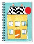 Yellow Flower House Spiral Notebook