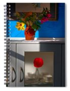 Yellow Flower In A Vase Of Clay. Spiral Notebook