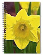 Yellow Flower Iris Spiral Notebook