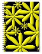 Yellow Flower Power 3d Digital Art Spiral Notebook