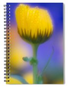 Yellow Flower With Dew Drops Spiral Notebook