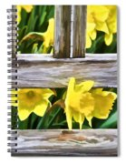Yellow Flowers By The Bench Spiral Notebook