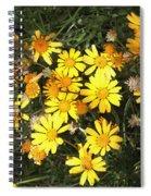 Yellow Flowers  Spiral Notebook