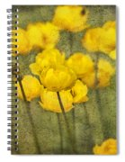 Yellow Flowers With Texture Spiral Notebook