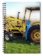 Yellow Ford Tractor Spiral Notebook
