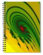 Yellow Fractal Spiral Notebook