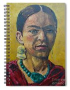Yellow Frida Spiral Notebook