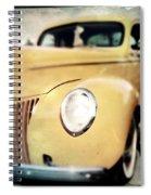 Yellow Gangsta Street Rod Spiral Notebook