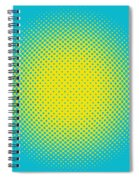 Optical Illusion - Yellow On Aqua Spiral Notebook