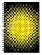 Optical Illusion - Yellow On Black Spiral Notebook
