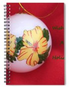 Yellow Hibiscus Christmas Bulb Spiral Notebook