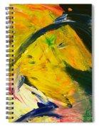 Yellow Horse Spiral Notebook