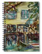 Yellow House By The River Spiral Notebook