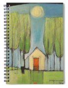 Yellow House In Woods Spiral Notebook