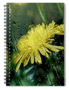 Yellow In The Rain Spiral Notebook