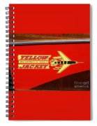 Yellow Jacket Outboard Boat Spiral Notebook