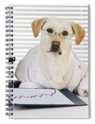 Yellow Lab In Lab Coat Spiral Notebook