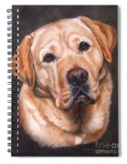 Yellow Labrador Portrait - Dark Yellow Dog Spiral Notebook