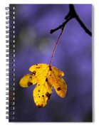 Yellow Leaf Spiral Notebook