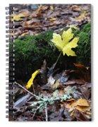 Yellow Leaf Spiral Notebook