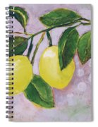 Yellow Lemons On Purple Orchid Spiral Notebook