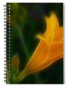 Yellow Lily 6011-fractal Spiral Notebook