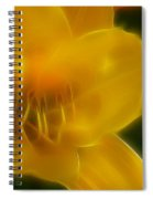 Yellow Lily 6069-fractal Spiral Notebook