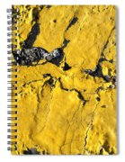 Yellow Line Abstract Spiral Notebook