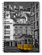 Yellow Lisbon Trolley Spiral Notebook